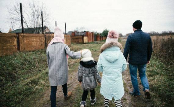 семейная фотосъемка на даче на природе фотосессия детей