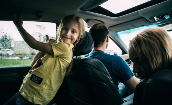 дорога на дачу ребенок в машине