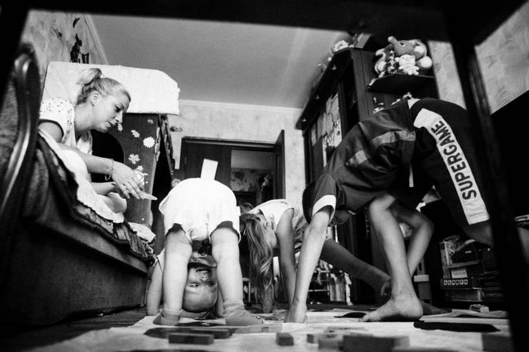 семейная домашная детская живая фотосессия твистер
