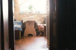 семейная домашная детская живая фотосессия щенки