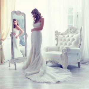 утро невесты, фото перед зеркалом