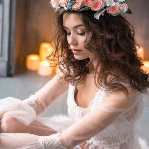 фотосессия невесты, прическа