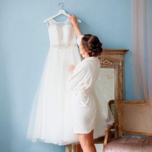 утро невесты, с платьем