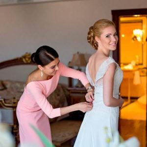 утро невесты, примерка платья