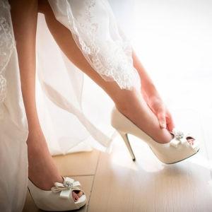 утро невесты, туфли