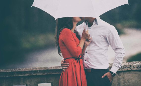 love story под дождем