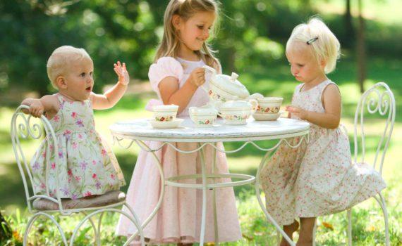 детская фотосессия, чаепитие