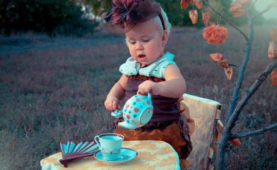 детская фотосессия, чаепития