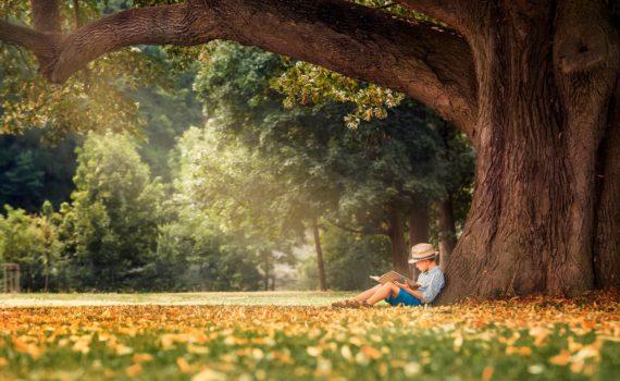 детская фотосессия, под деревом