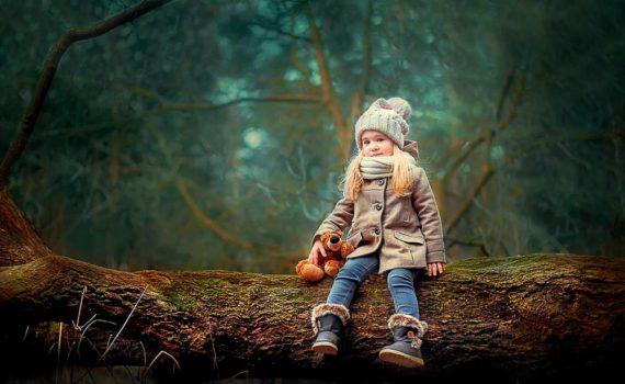 детская фотосессия в лесу