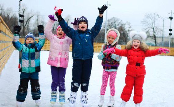 детская фотосессия на льду