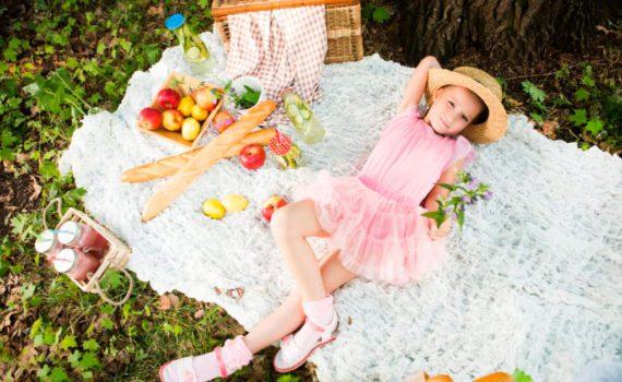 детская фотосессия на пикнике