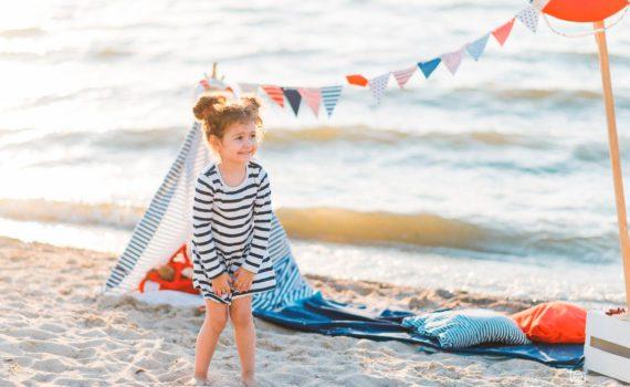 детская фотосессия на пляже