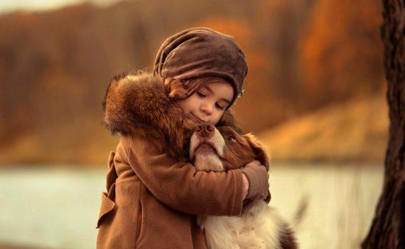 детская фотосессия с животными