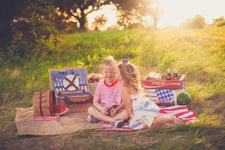 Фото на пикнике с детьми