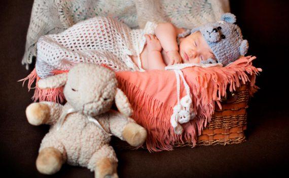 детская фотосессия, ребенок спит