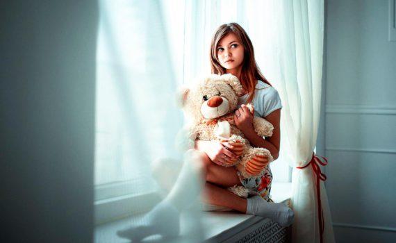 домашняя фотосессия девушки