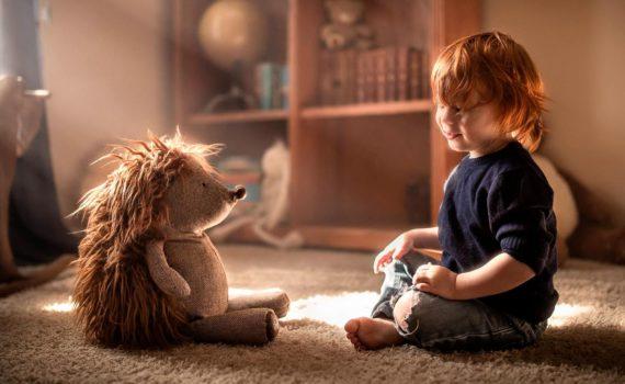 детская фотосессия с игрушками
