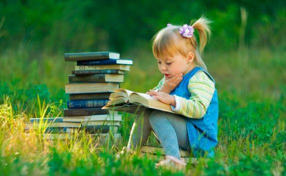 детская фотосессия, с книгой