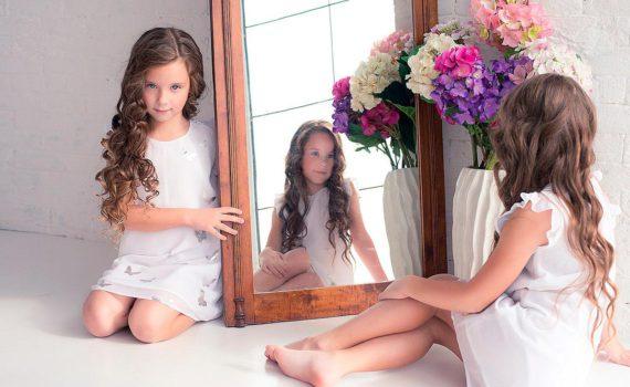 детская фотосессия, с зеркалом