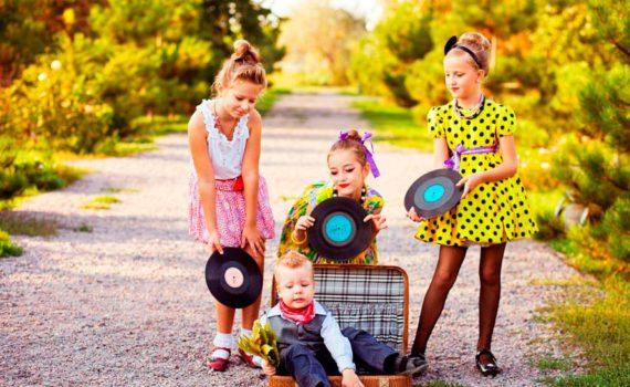 детская фотосессия, стиляги
