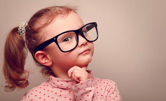 детская фотосессия, в очках