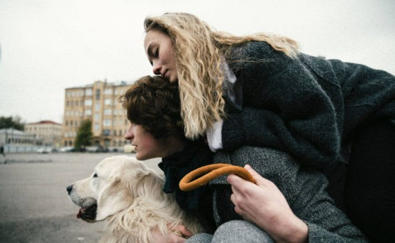 love story Соня Женя на улице