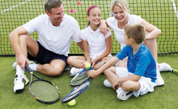 семейная фотосессия, активный спорт, теннис