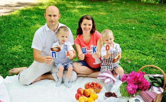 семейная фотосессия с буквами