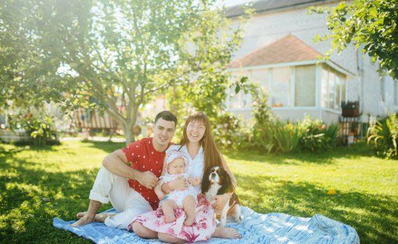 семейная фотосессия на даче