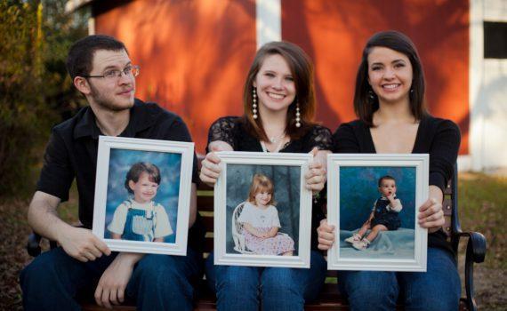 семейная фотосессия, портрет в портрете