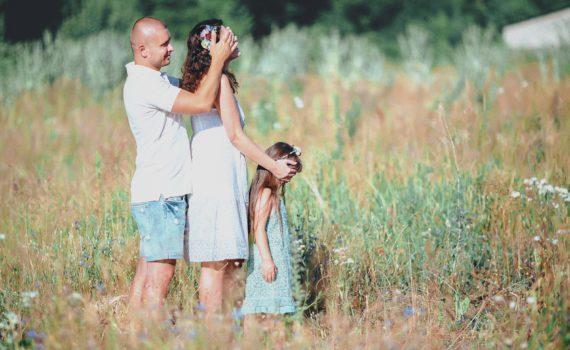 семейная фотосессия, построились по росту