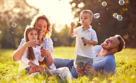 семья, дети, пузыри