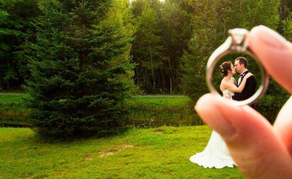 свадебная летняя фотосессия с интересного ракурса