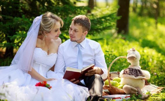 летняя свадебная фотосессия пикник