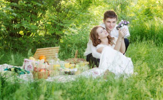 пикник свадебная летняя фотосессия