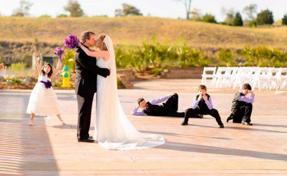 свадебная летняя фотосессия с детьми