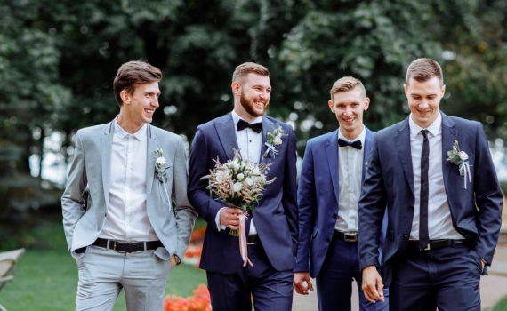 свадебная фотосессия летом с другом жениха