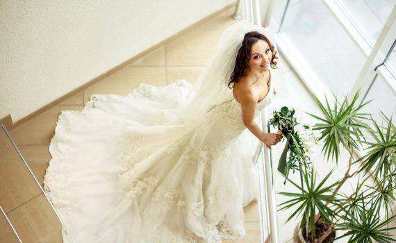 отдельная фотография невесты свадебная фотосессия летом