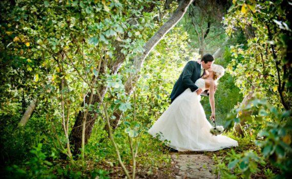 свадебная летняя фотосессия в парке