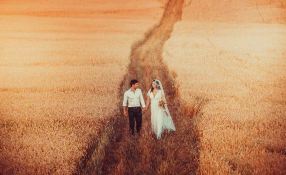 фотосессия свадебная у дороги