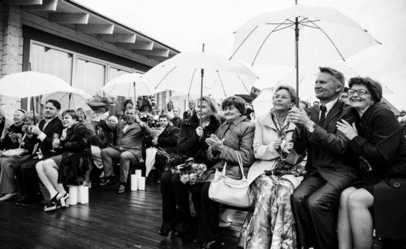 церемония на свадьбе за городом гости