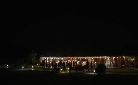 бенгальские огни свадьба в art village общий план