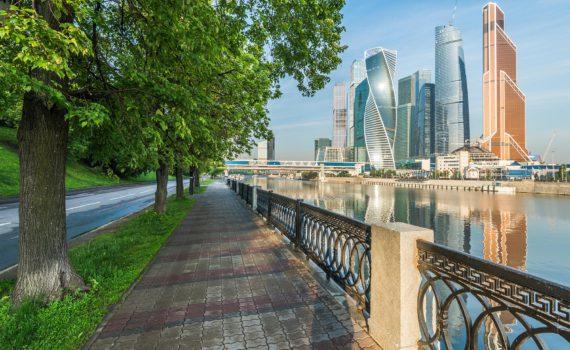 Москва-Сити вид с набережной