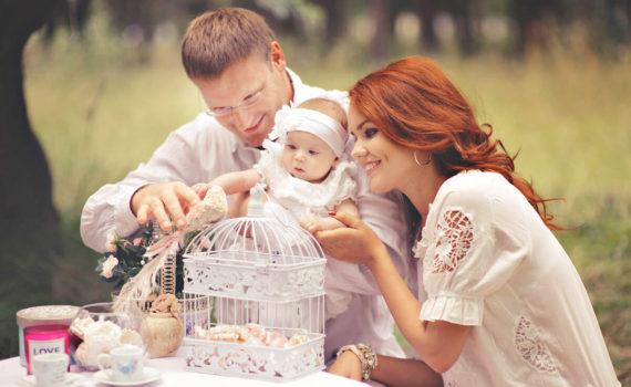 семейная фотосессия годовалого ребенка