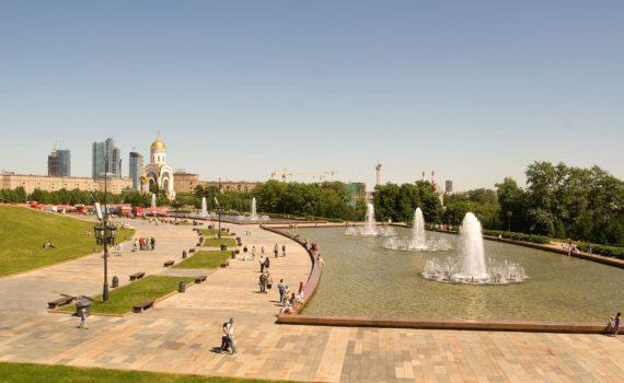 Парк Победы фонтаны