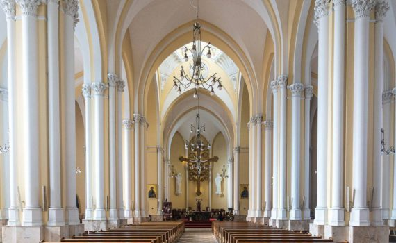 Римско-католический кафедральный собор изнутри