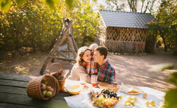 осенняя семейная фотосессия пикник