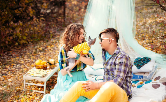пикник семейная осенняя фотосессия