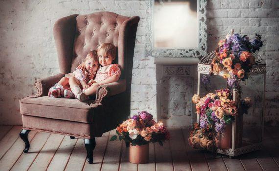 фотосессия ребенка на год в студии в крусле